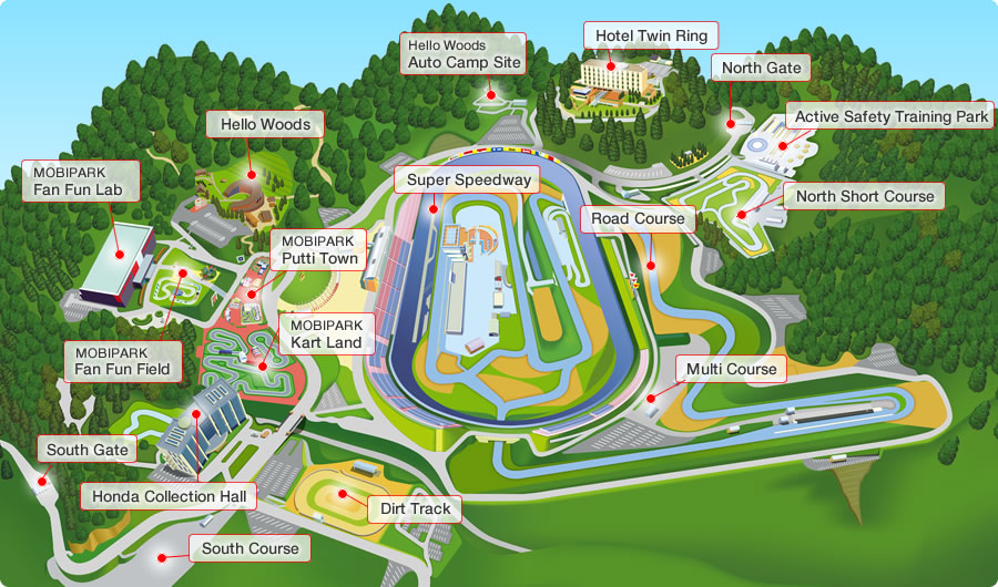 Honda Motegi Collection Map