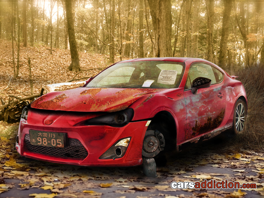 Toyota FT-86 abandoned and rotting away