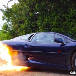 Flaming Jaguar XJ220